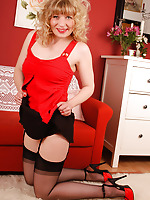 A naugthy Angel in black sheer stockings