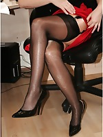 Longest and sexiest MILF legs Worldwide in extra-sheer pantyhose
