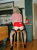 sporty milf parades her stockings